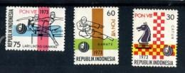 INDONESIE POSTFRIS MINT NEVER HINGED POSTFRISCH EINWANDFREI  YVERT 659 660 661