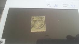 LOT 223615 TIMBRE DE COLONIE ALEXANDRIE OBLITERE N�16 VALEUR 25 EUROS