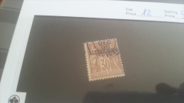 LOT 223617 TIMBRE DE COLONIE ALEXANDRIE OBLITERE N�12 VALEUR 14 EUROS