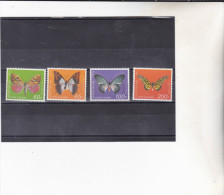 COTE D´IVOIRE : Papillons :Y&T : ** : 469 à 472 - Côte D'Ivoire (1960-...)