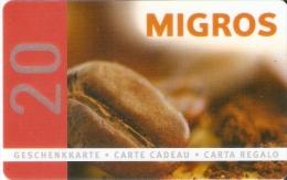 TARJETA DE REGALO DE MIGROS 20 UNITS (GIFT CARD-CADEAU) - Tarjetas De Regalo