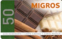 TARJETA DE REGALO DE MIGROS 50 UNITS (GIFT CARD-CADEAU) CHOCOLATE-CHOCOLAT - Tarjetas De Regalo