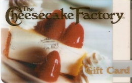 TARJETA DE REGALO DE CHEESECAKE FACTORY (GIFT CARD-CADEAU) - Tarjetas De Regalo