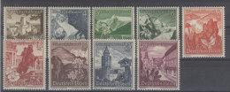 Deutsches Reich Michel No. 675 - 683 ** postfrisch