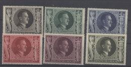 Deutsches Reich Michel No. 844 - 849 ** postfrisch