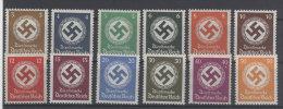 Deutsches Reich Dienst Michel No. 132 - 143 ** postfrisch