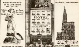 CPA 67 STRASBOURG HOTEL RESTAURANT DE LA CATHEDRALE - Strasbourg