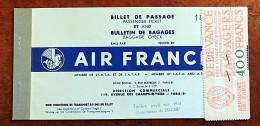 Ancien billet AIR FRANCE - Paris Alger - juin 1959 - avec Timbre redevance AP - Liaison France Alg�rie -