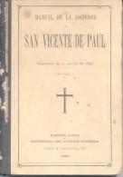 MANUAL DE LA SOCIEDAD DE SAN VICENTE DE PAUL AÑO 1897 BUENOS AIRES TRADUCCION DE LA EDICION DE 1893 PRIMERA PARTE - Religion & Occult Sciences