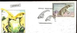 Romania, Cover, Prehistoric Animals, Dinosaurs, Parasaurolophus, Liliput 15x6.5cm - Préhistoriques