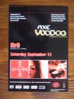 AXE Voodoo Parfum OLD Carte Postale - Modern (from 1961)