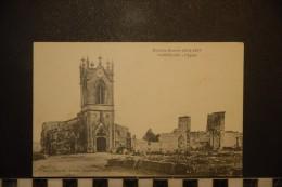 CP, Militaria, Guerre De 1914, SOMMEILLES L'Eglise Edition A Humbert - Oorlog 1914-18