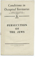 CONDITIONS IN OCCUPIED TERRITORIES - 6 - PERSECUTION OF THE JEWS - Guerre 1939-45