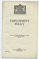 EMPLOYMENT POLICY 1944 - Guerre 1939-45