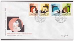 Antillen / Antilles 1981 FDC Se 142 Childwelfare Cat Teddy-bear - Curaçao, Antilles Neérlandaises, Aruba