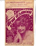 MISTINGUETT - PARTITION  MUSICALE - FLEUR D´AMOUR- ANNEE 1924 - Spartiti