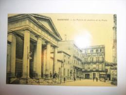 2vde - CPA - NARBONNE - Le Palais De Justice Et La Poste - [11]  - Aude - Narbonne