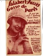 MISTINGUETT - PARTITION  MUSICALE - GOSSE DE PARIS - - Spartiti