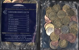Starter-Paket New 2013/2014 Lettland EURO-Einführung Stg. 45€ Münzen Riga With Sets 1C.- 2€ Coins Of Republik Of Latvija - Letonia
