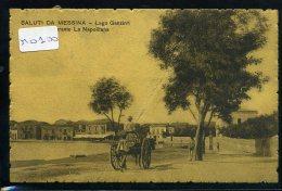 MESSINA  LAGO  GANZIRRI   RISTORANTE LA  NAPOLITANA    VIAGGIATA  1909 - Messina