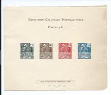 EPREUVE COLLECTIVE 1931 EXPOSITION COLONIALE PETIT FORMAT YT 270 à 273 COTE 375 EUROS(FREE SHIPPING REGISTERED - Luxusentwürfe