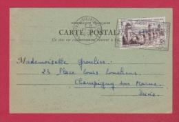 Carte Postale  //  Librairie Galignani  //  De Paris  Pour Champigny Sur Marne  //  10/9/1956 - Briefe U. Dokumente