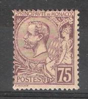 MONACO, 1891, Yvert N° 19, Prince Albert 1 Er, 75 C Violet Brun Sur Paille , Neuf * TB!!!!! Cote 40 Euros - Neufs