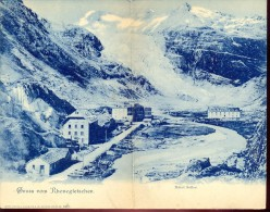 Carte Double  - Gruss Aus Rhonegletscher - Hotel Seiler - Suisse - Souvenir De...