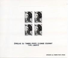 France. Lot De 4 épreuves Type Liberté De Gandon - Epreuves D'artistes