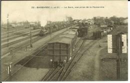 CPA  MARMANDE  La Gare, Vue Prise De La Passerelle 10841 - Marmande