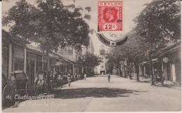 Asie ; CEYLON  : Colombo    Chatham   Street   Fort     ( Timbre ) - Cartes Postales