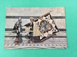 Le storiche contrade di SIENA - Duce e Paggio Maggiore della Lupa - cartolina FG C NV