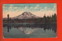 1 Cpa  Mount Tacoma From Spanaway Lake Tacoma - Tacoma
