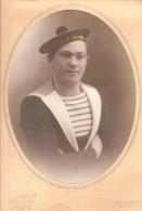 """Grande photo originale MARIN DU CROISEUR """"ALG�RIE"""" - (photographe : 33 quai de Cronstadt, � TOULON)"""
