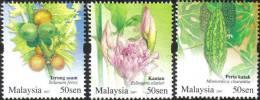 Malaysia 2007 S#1177-1179 Rare Vegetables MNH Flora Food Vegetable - Malaysia (1964-...)