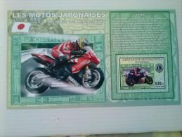 Republica Democratica Del Congo-motociclismo Yamaha ,1 Hoja Bloque Nuevas Serie Completa - Motorbikes