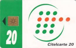 IVORY COAST - Telecom Logo, Green Band 20 Units, Chip GEM1C, Used - Côte D'Ivoire