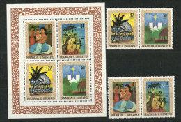 Noël Aux îles Samoa. Série Complète 476/79 + BF Nr 24 Neufs **. Côte 8.00 € - Christmas