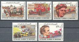 133 MAURITANIE 1981 - Grand Prix Automobile Pilotes Voitures (Yvert 491/95) - Neuf ** (MNH) Sans Trace De Charniere - Mauritania (1960-...)