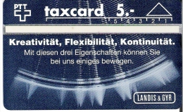 PTT: K-92/32 202L Landis & Gyr, Kreativit�t - Flexibilit�t - Kontinuit�t. mint