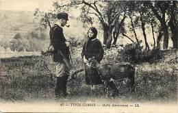 Depts Divers- Haure Corse - Ref P794 - Types Corses - Idylle Amoureuse - Chevre - Chevres - Goat - Goats - - France