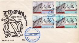 Haiti Set On FDC - Bateaux