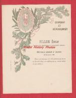 Diplome Ancien De 1896 - GESPUNSART ( Ardennes ) - Emile FILLON , Sapeur Pompiers - Médaille Argent Remis Le 15 Décembre - Diplome Und Schulzeugnisse