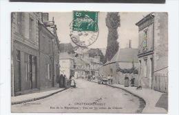 37 - CHATEAURENAULT - RUE DE LKA REPUBLIQUE -  CAFÉ - AUX AMIS DE LA GAÎTÉ - 1909 - France
