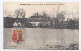 37 - CHATEAURENAULT - MOULIN DE LAUNAY, SUR LA BRENNE - JOUR D'INONDATION - 21 JANVIER 1910 - France