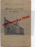 87 - BULLETIN PAROISSIAL DE NOUIC - EGLISE- JANVIER 1928- N° 2-BAPTEME SAUTERAUD- RAYNAUD- QUERIAUD- DECOUX-VILLEGIER- - Limousin