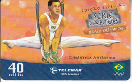 BRAZIL(Telemar) - Athens 2004 Olympics/Artistic Gymnastics, Tirage 33900, 03/04, Used - Jeux Olympiques