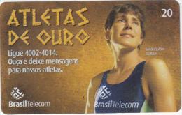 BRAZIL(Brasil Telecom) - Athens 2004 Olympics, Sandra Soldan/Triathlon, 08/04, Used - Jeux Olympiques