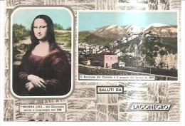 80910)cartolina lagonegro panoramica  con monna lisa