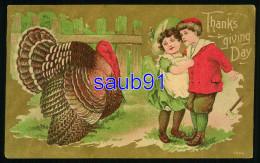 Thanksgiving Day  - Enfants Et Dinde - Turkey - Thanksgiving